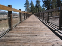 Marsh walkway at Big Bear Lake
