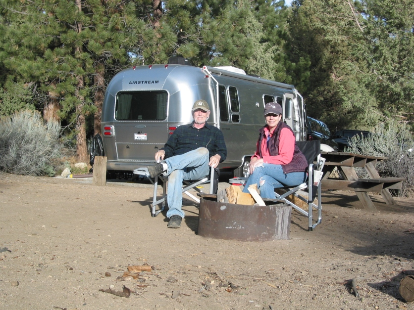 Alex and Jim at Serrano Campground
