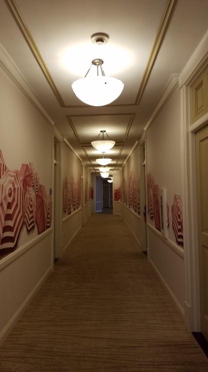 Haunted hallway late at night
